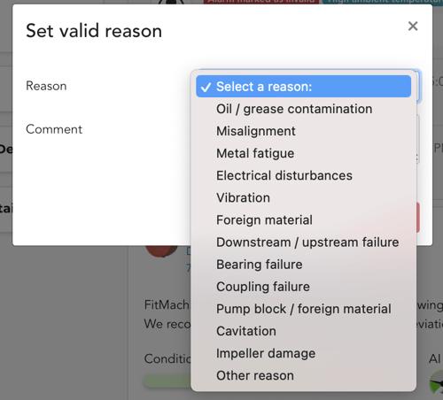 Set valid reason