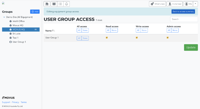 User Group Access